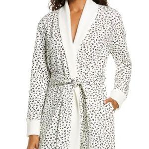 Ugg karoline leopard fleece robe M